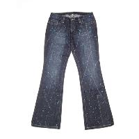 Ladies splash printed jean
