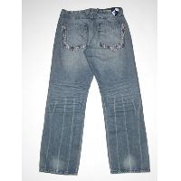 Mens creased hem jean (bk)